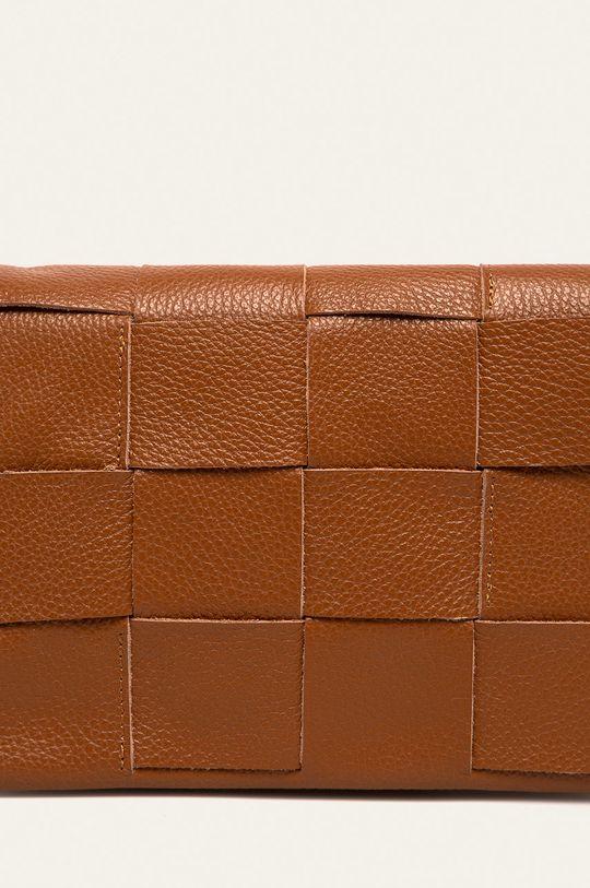 Answear - Kožená kabelka hnědá