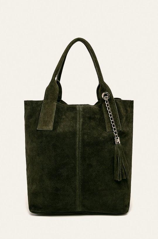 zelená Answear - Kožená kabelka Dámský