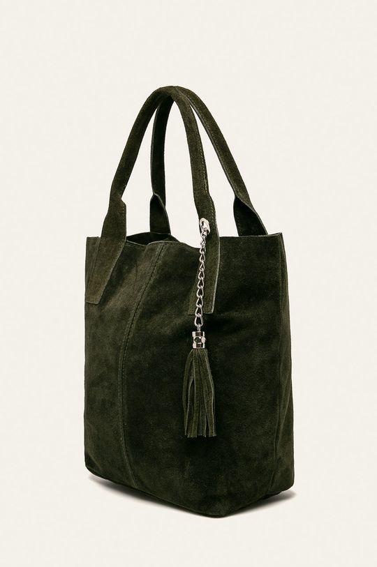 Answear - Kožená kabelka zelená