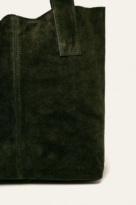 zelená Answear - Kožená kabelka