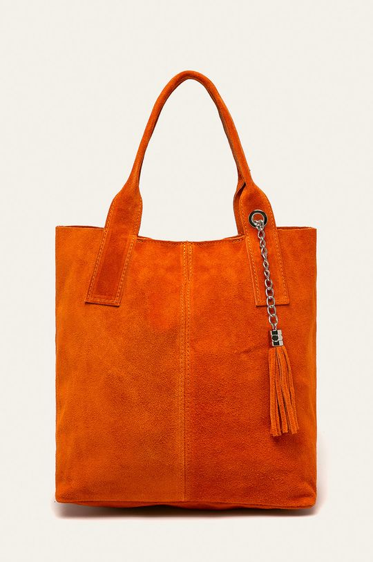oranžová Answear - Kožená kabelka Dámský