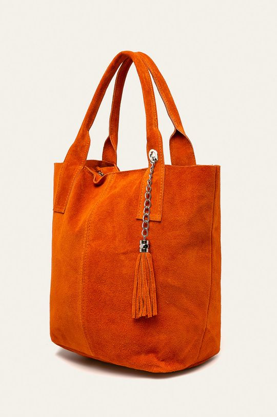 Answear - Kožená kabelka oranžová