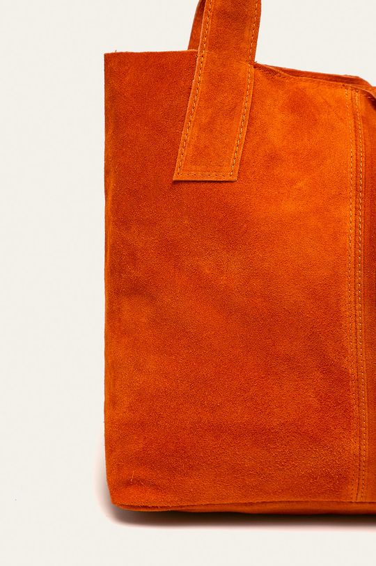 oranžová Answear - Kožená kabelka