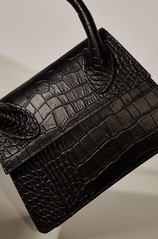 Answear.LAB limitovaná kolekcia - Kožená kabelka čierna