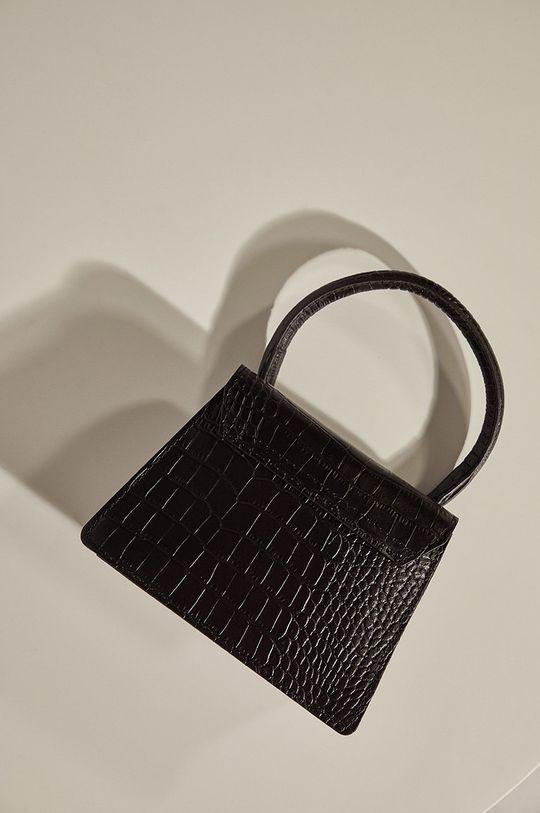 čierna Answear.LAB limitovaná kolekcia - Kožená kabelka