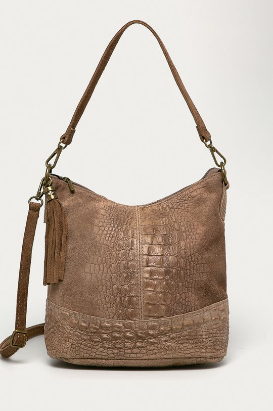 béžová Answear - Kožená kabelka Answear Lab Dámsky