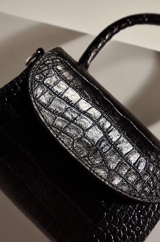 Answear.LAB limitovaná kolekce - Kožená kabelka černá