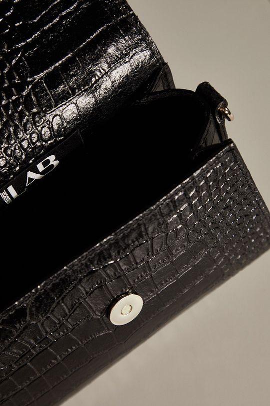 černá Answear.LAB limitovaná kolekce - Kožená kabelka