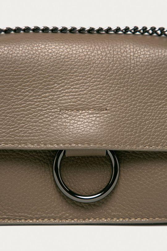 Answear Lab - Kožená kabelka béžová