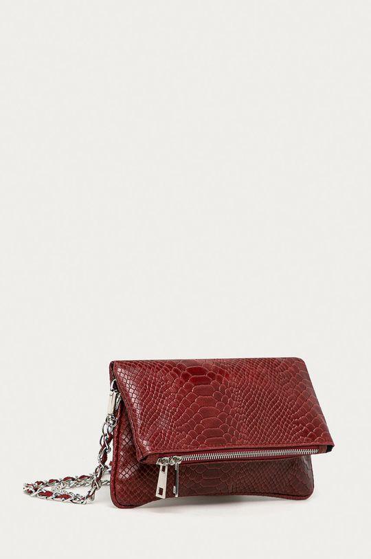 Answear Lab - Kožená kabelka červená