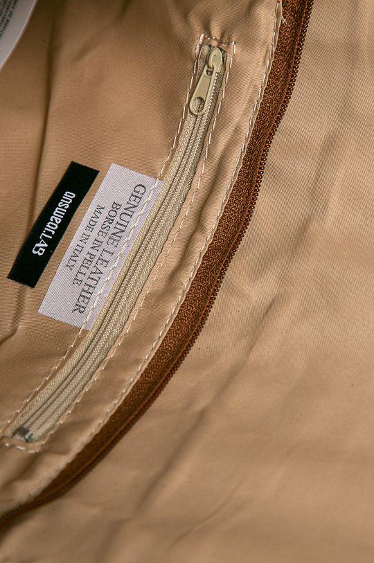 brązowy Answear Lab - Torebka skórzana