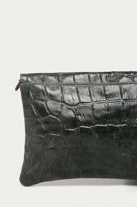 šedá Answear Lab - Kožená kabelka