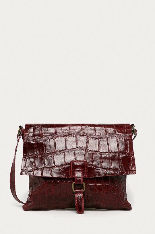 červená Answear Lab - Kožená kabelka Dámský