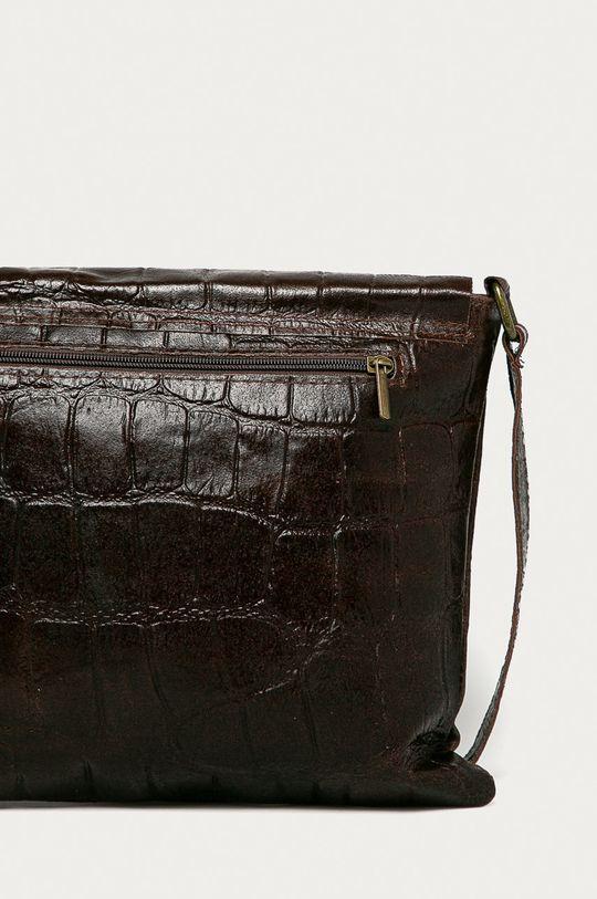 tmavě hnědá Answear Lab - Kožená kabelka