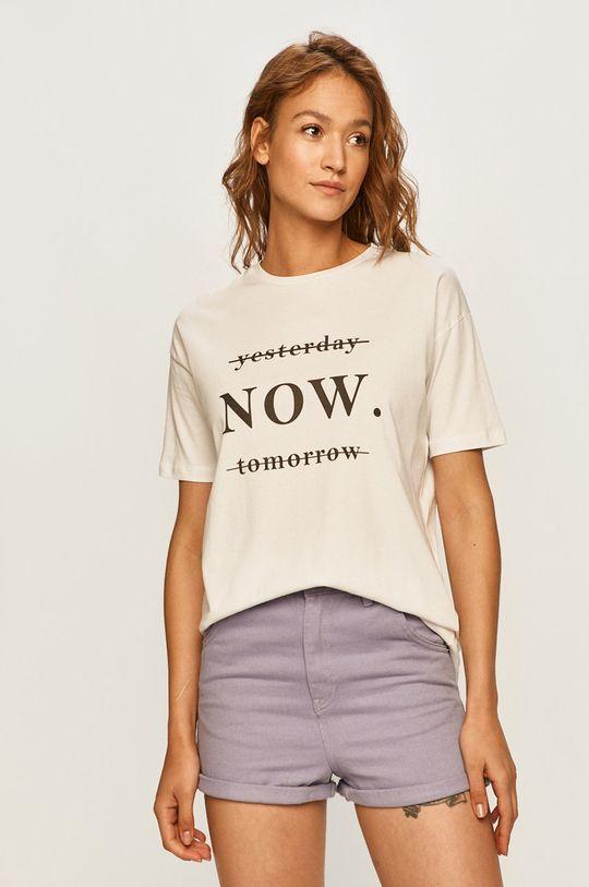 biały Answear - T-shirt Damski