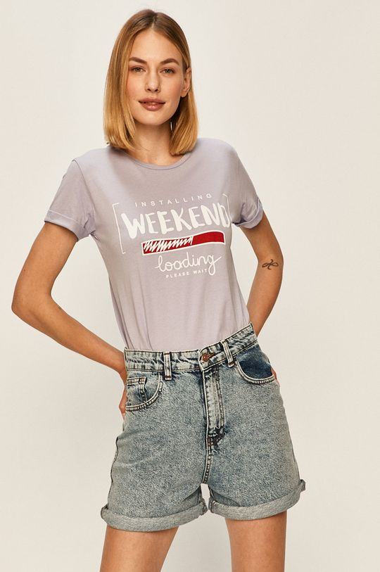 levandulová Answear - Tričko