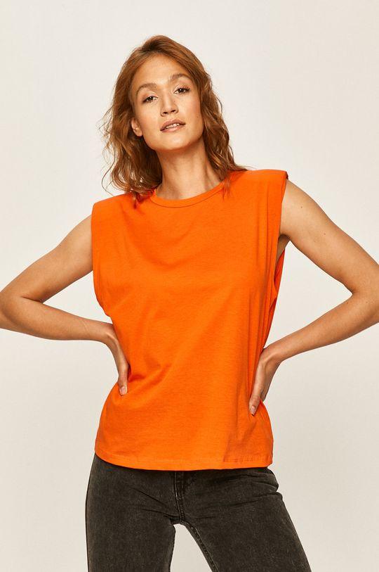 oranžová Answear - Tričko Dámský