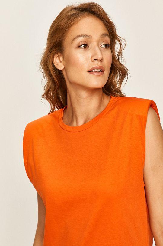 oranžová Answear - Tričko