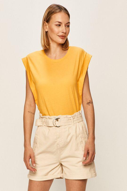 žlutá Answear - Tričko Answear Lab