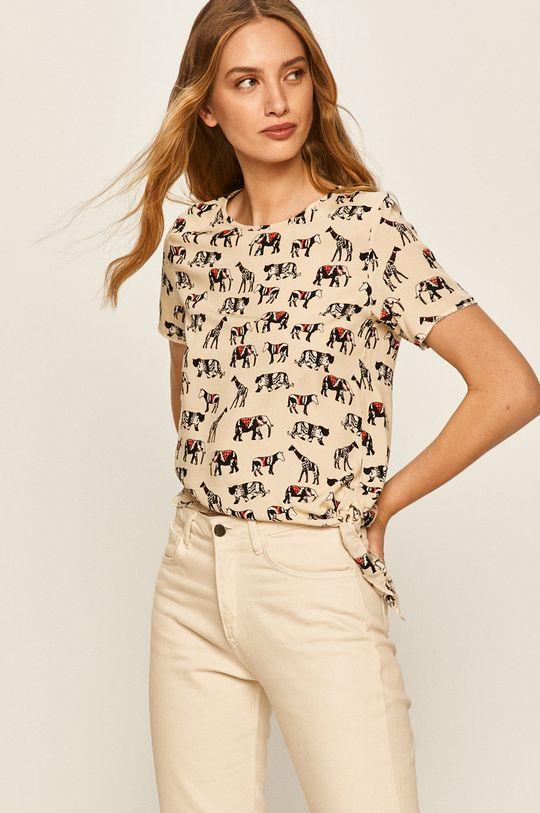 beżowy Answear - T-shirt