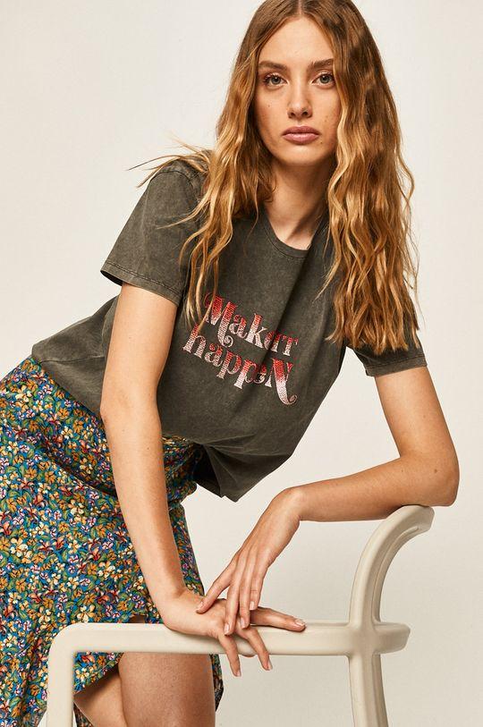 szary Answear - T-shirt Answear Lab Damski