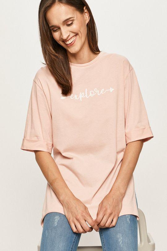 różowy Answear - T-shirt Damski