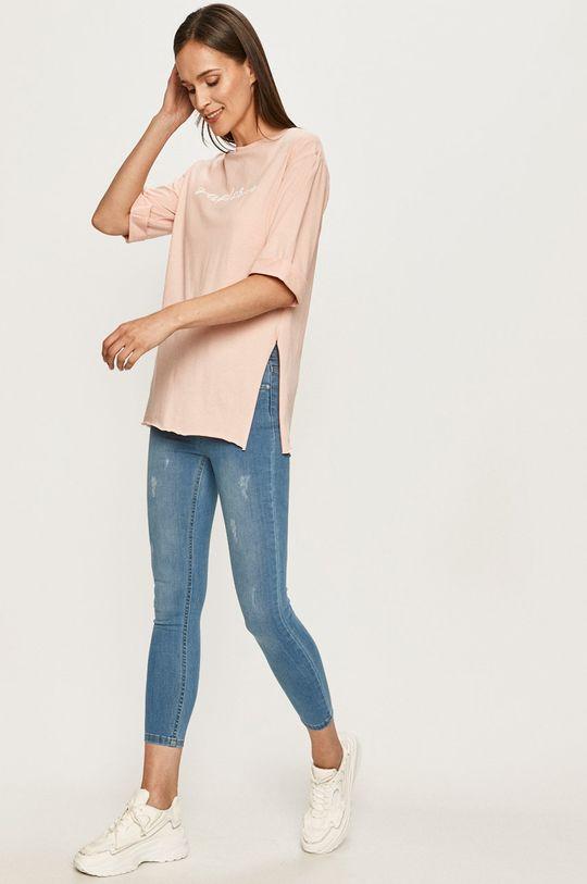 Answear - T-shirt różowy