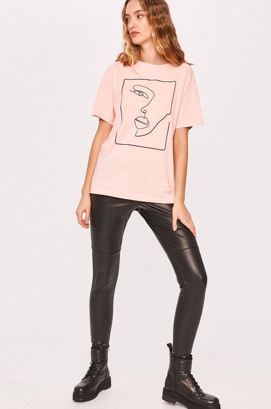 Answear - Tričko Answear Lab ružová