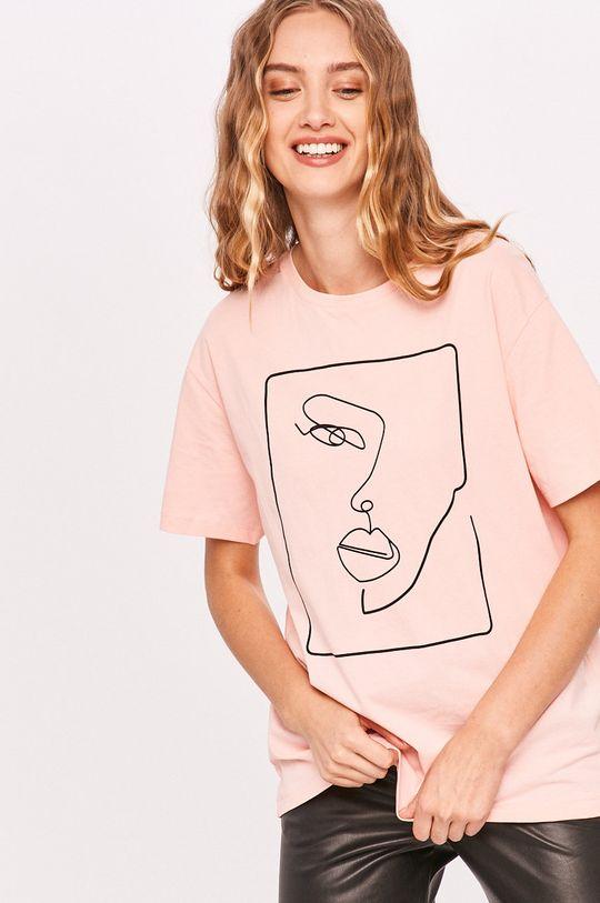 ružová Answear - Tričko Answear Lab