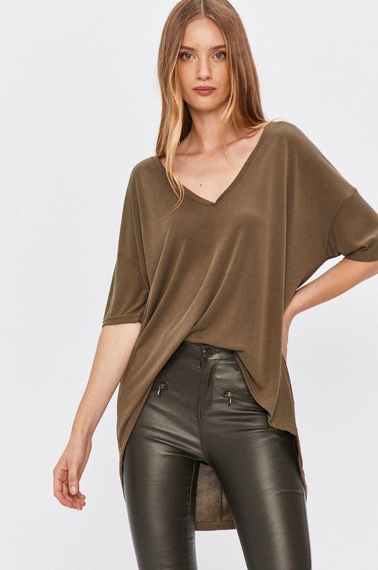zielony Answear - T-shirt Answear Lab Damski