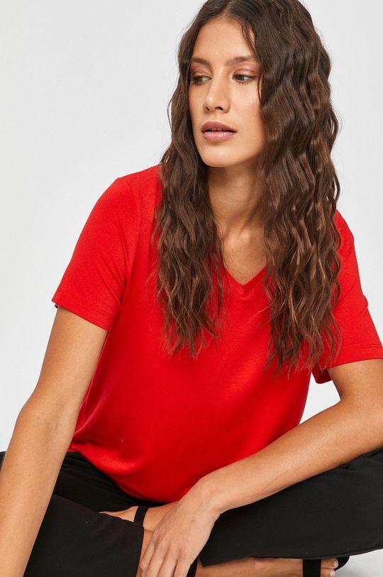 červená Answear Lab - Tričko Dámsky