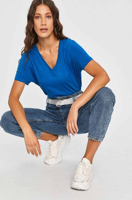 albastru Answear - Tricou Answear Lab De femei