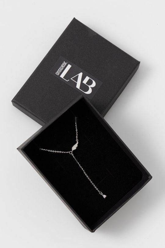 srebrny Answear Lab - Naszyjnik Damski