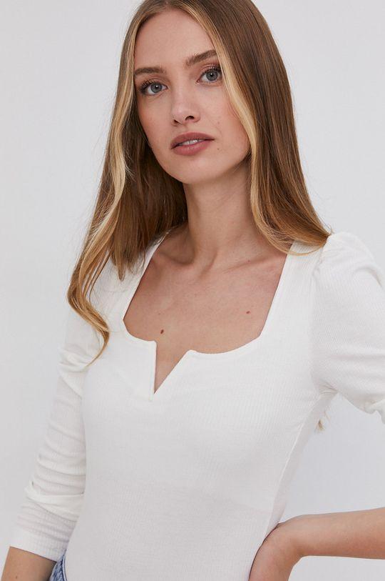 bílá Answear Lab - Tričko s dlouhým rukávem