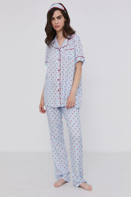 niebieski Answear Lab - Piżama z opaską na oczy Damski