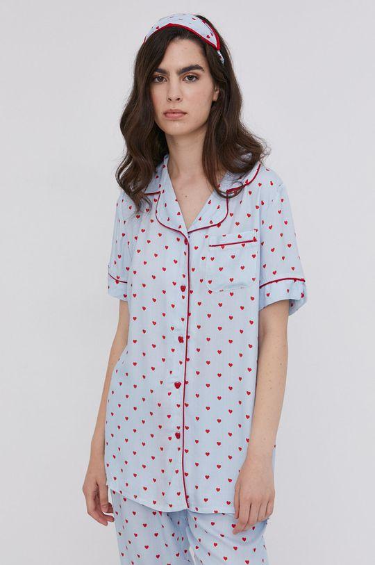 Answear Lab - Piżama z opaską na oczy niebieski