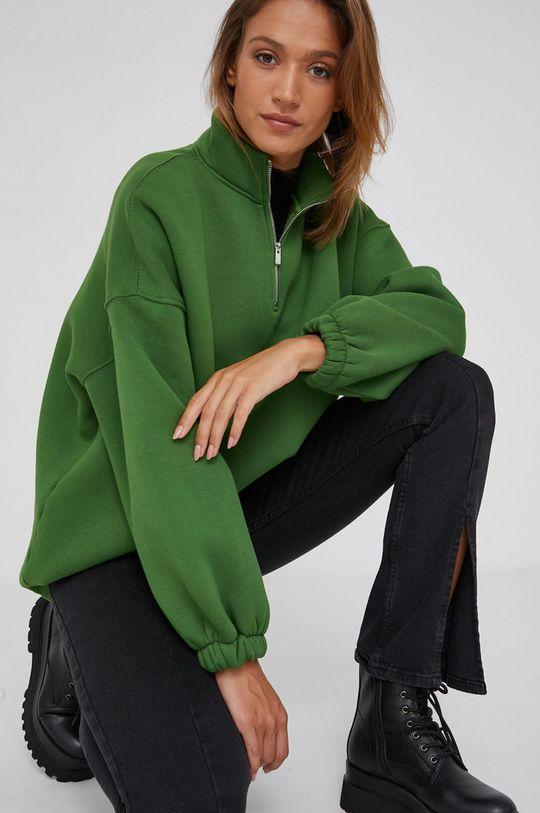 zelená Answear Lab - Bavlněná mikina Dámský