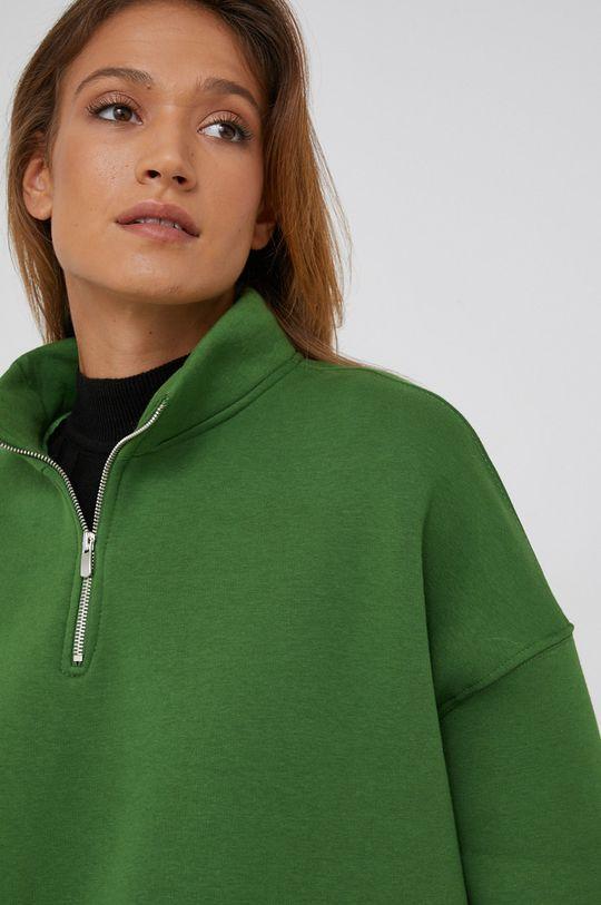 zelená Answear Lab - Bavlněná mikina