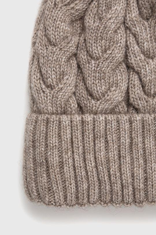 Answear Lab - Čepice z vlněné směsi  50% Akryl, 20% Kašmír, 30% Vlna
