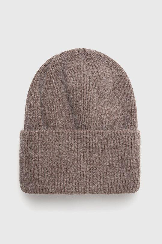 hnědá Answear Lab - Vlněný klobouk Dámský