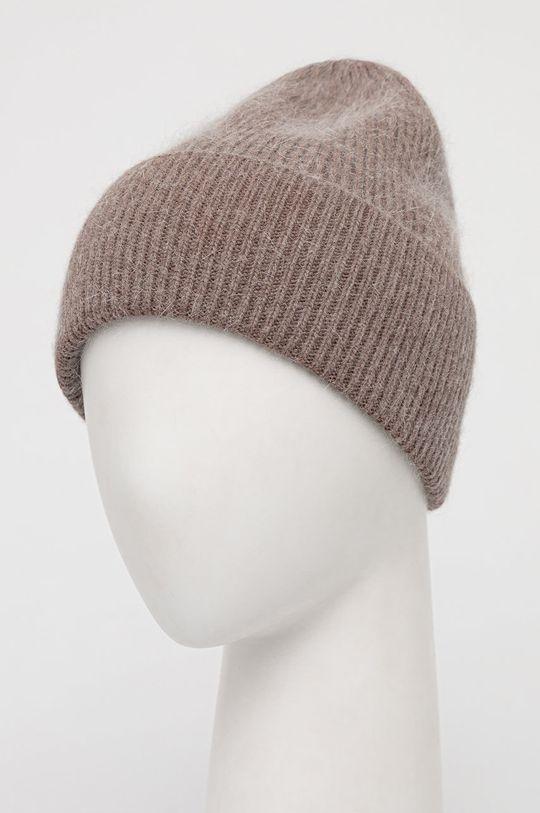 Answear Lab - Vlněný klobouk hnědá