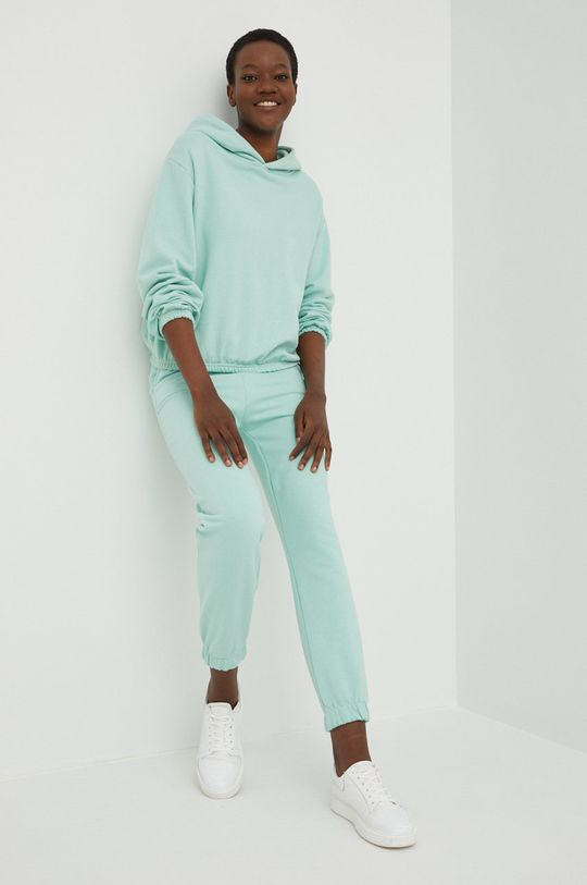 miętowy Answear Lab - Bluza bawełniana Damski