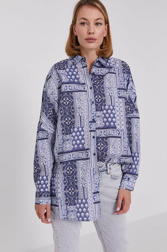 niebieski Answear Lab - Koszula bawełniana Damski