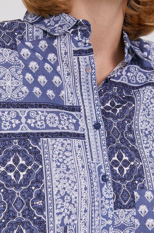 Answear Lab - Koszula bawełniana niebieski