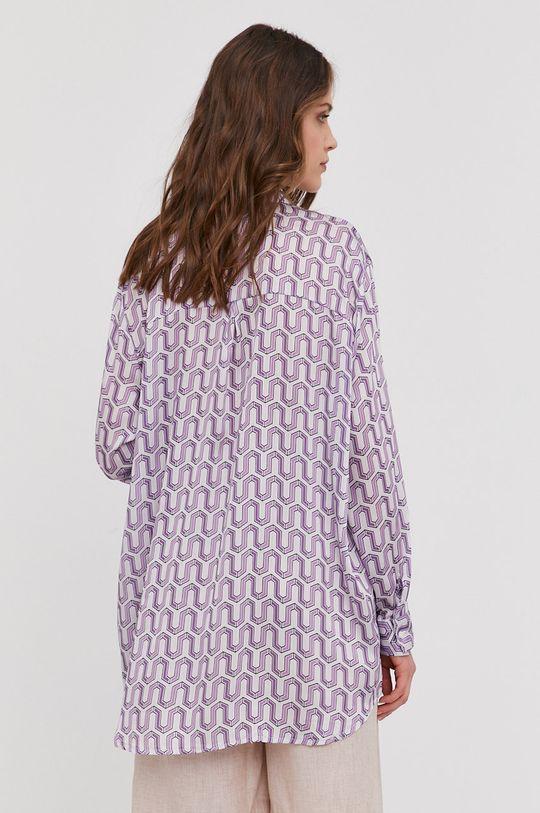 fioletowy Answear Lab - Koszula