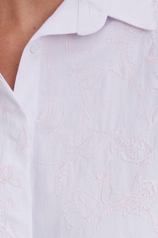 Answear Lab - Bavlněné tričko bílá