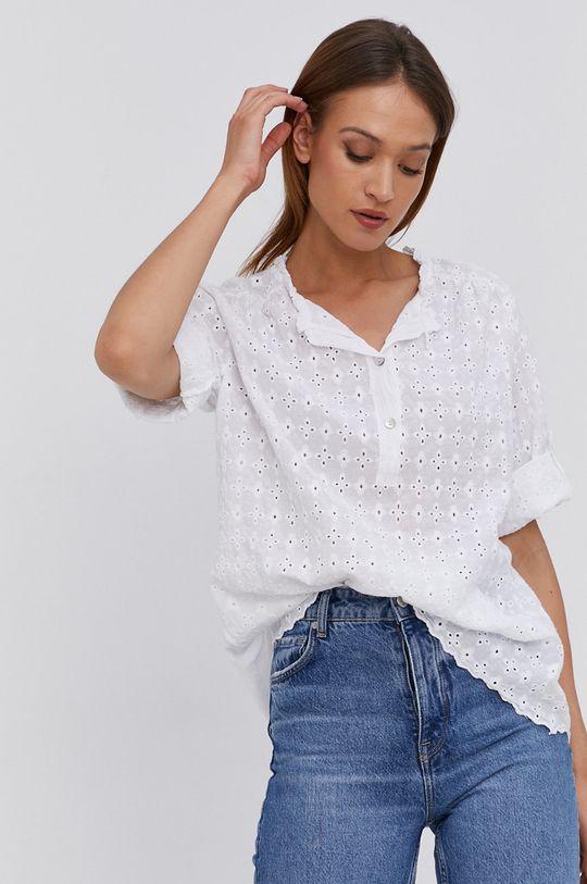 biały Answear Lab - Bluzka bawełniana Damski