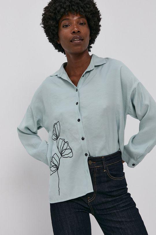 modrá Answear Lab - Bavlněné tričko