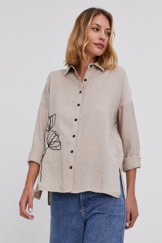 béžová Answear Lab - Bavlněná košile
