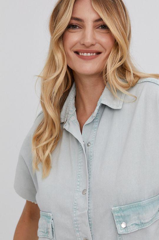 miętowy Answear Lab - Koszula bawełniana Damski